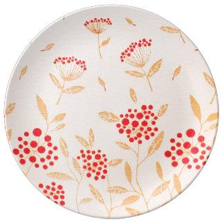 Patron design for Decorative Porcelain Plate