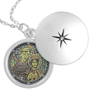 Patron Of Lost Things Saint Anthony Silver Plated Locket Necklace