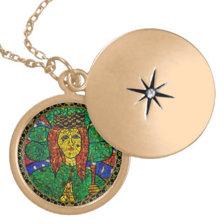 Patron Saint Of Depression And Anxiety St Dymphna Locket Necklace
