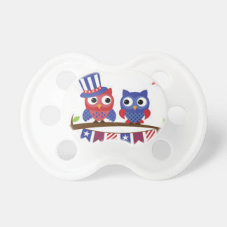 patrotic owls pacifier
