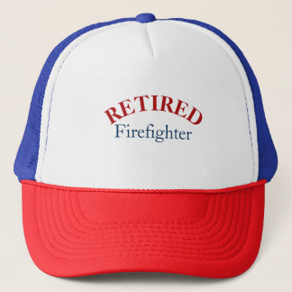 Patrotic Retired Fire Fighter Cap