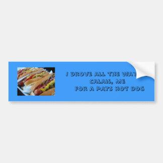 pats hot dog bumper sticker