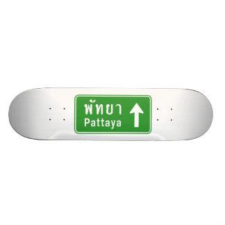 Pattaya Ahead ⚠ Thai Highway Traffic Sign ⚠ Skate Board Decks