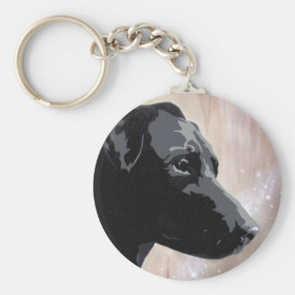 Patterdale dog  sparkle design keyring keychain