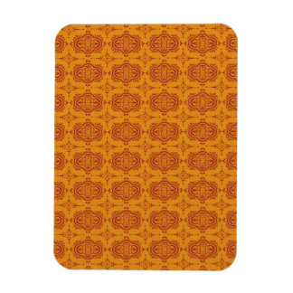 pattern77 DECORATIVE ORANGE ORANGE-RED PATTERN SCR Rectangular Photo Magnet
