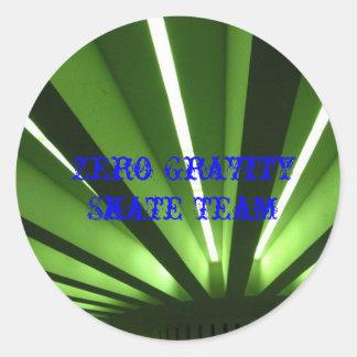 pattern_1, Zero Gravity Skate Team, Zero Gravit... Classic Round Sticker