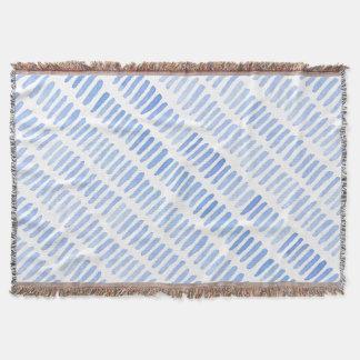 Pattern 65 Blue Throw Blanket