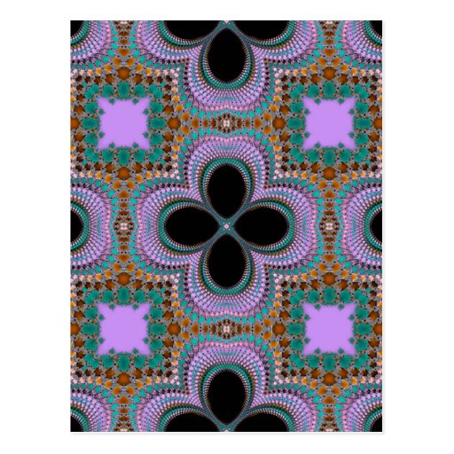 Pattern Abstract Design Postcard