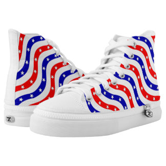 Pattern American Flag Beautiful Printed Shoes