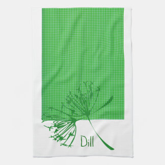 Pattern and Spices Dill   Kitchen Designs Tea Towel