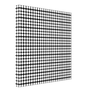Pattern: Black Background with White Circles Gallery Wrapped Canvas