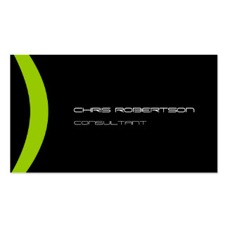 Pattern Black White Green Attractive Business Card