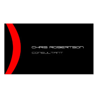 Pattern Black White Red Attractive Business Card