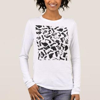 Pattern black Women's shoes Long Sleeve T-Shirt