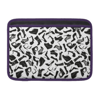 Pattern black Women's shoes MacBook Sleeve