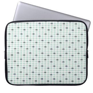 """Pattern Blue elefants  Laptop Sleeve 15"""""""