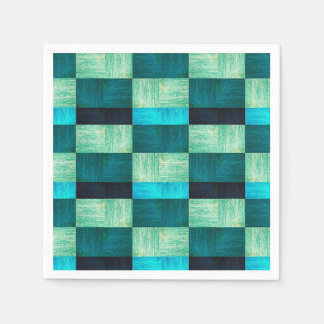 Pattern blue-green paper serviettes