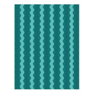 Pattern Blue Stripes - Lines zigzag Postcard