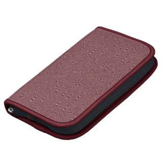 Pattern & Bordeaux Trim Folio Smartphone Folio Planner