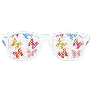pattern butterflies adults sunglasses ,white