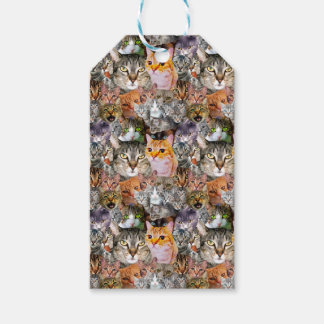 Pattern Cats Gift Tags