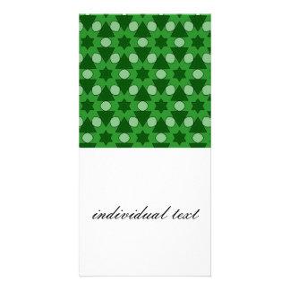 Pattern Chris,green Photo Card