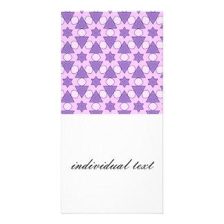 Pattern Chris,pink Photo Card