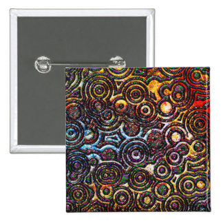 pattern collage abstract art texture 15 cm square badge