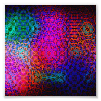 Pattern Color Colorful Dark Photo Print