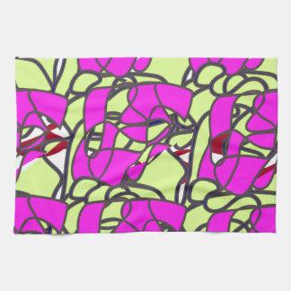 pattern-color pink. towel