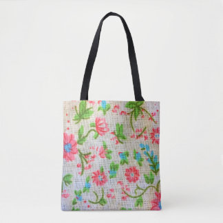 pattern colorful floral tote bag