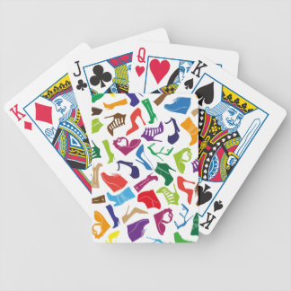 Pattern colorful Women's shoes Bicycle Playing Cards
