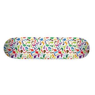 Pattern colorful Women's shoes Custom Skateboard