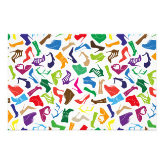Pattern colorful Women's shoes Customised Stationery