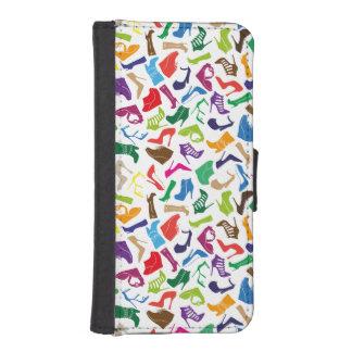 Pattern colorful Women's shoes iPhone SE/5/5s Wallet Case