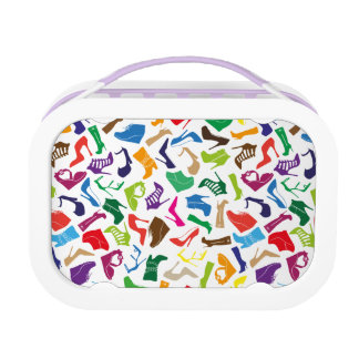 Pattern colorful Women's shoes Lunch Box