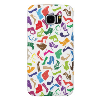 Pattern colorful Women's shoes Samsung Galaxy S6 Cases