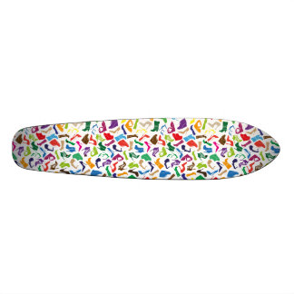 Pattern colorful Women's shoes Skate Deck