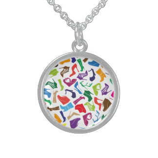 Pattern colorful Women's shoes Sterling Silver Necklace