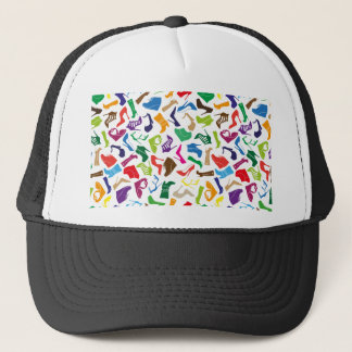 Pattern colorful Women's shoes Trucker Hat