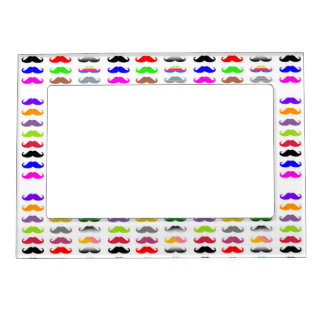 Pattern colourful mustache Magnetic Frame
