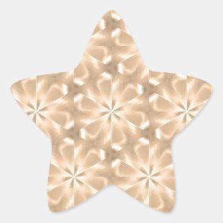 Pattern CORA,peach Star Stickers