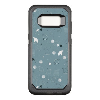 pattern displaying a cute polar OtterBox commuter samsung galaxy s8 case