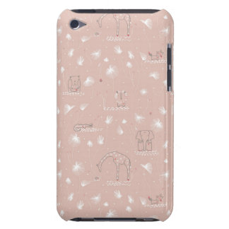 pattern displaying cute baby jungle animals Case-Mate iPod touch case