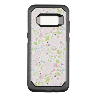 pattern displaying floral OtterBox commuter samsung galaxy s8 case