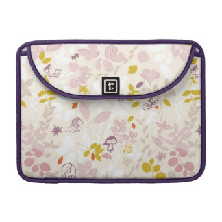 pattern displaying whimsical animals sleeve for MacBook pro
