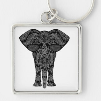 Pattern Elephant Keychain