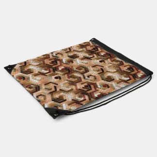 Pattern Factory 23 brown Drawstring Bag