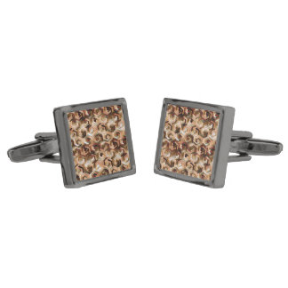 Pattern Factory 23 brown Gunmetal Finish Cuff Links
