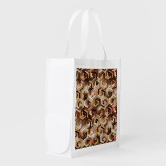 Pattern Factory 23 brown Reusable Grocery Bag